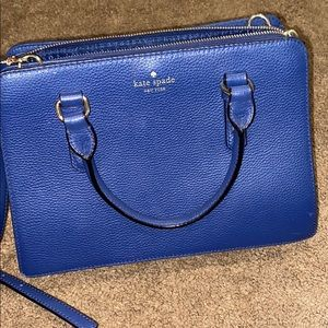 Slightly used blue Kate Spade purse.